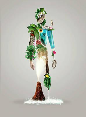 Figures Wall Art - Photograph - The Fantasy Nature Man by Wanda D\'onofrio