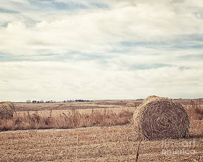 Blue And Brown Photograph - The Far Away Farm by Alison Sherrow