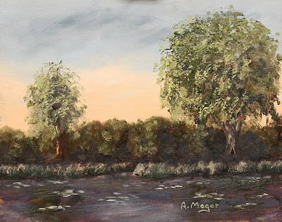 Painting - The Far End Of The Pond by Alan Mager