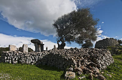 Photograph - Talayotic Culture In Minorca Island - The Far Side Of The Word Stone Age Heritage by Pedro Cardona Llambias