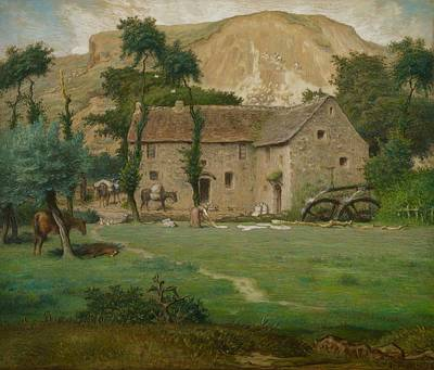 The Farm House Print by Jean Francois Millet