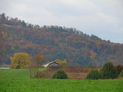 Photograph - The Farm In Autumn by Lew Davis
