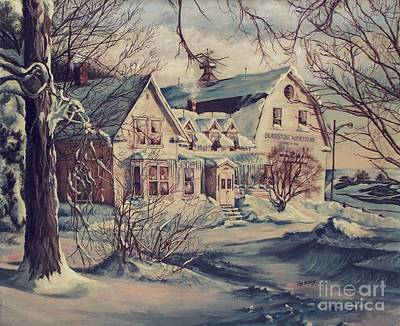 Art Print featuring the painting The Farm by Joy Nichols