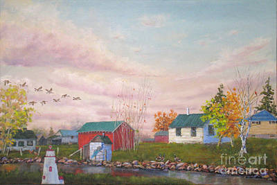 Mohamed Painting - The Farm by Mohamed Hirji