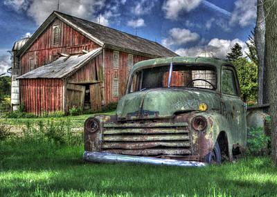 Barn Digital Art - The Farm Truck by Lori Deiter