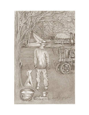 The Farmer Art Print by David Gallagher