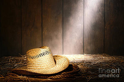 Aged Wood Photograph - The Farmer Hat by Olivier Le Queinec