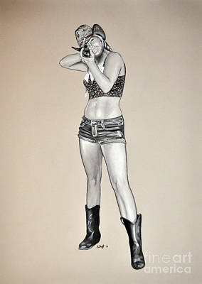 Drawing - The Farmers Daughter by Joe Dragt