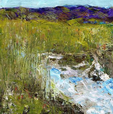 Rushing Water Painting - The Farmers Ditch Spring by Frances Marino