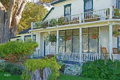 Digital Art - The Farmhouse At Mission Ranch - Carmel Ca by Jim Pavelle