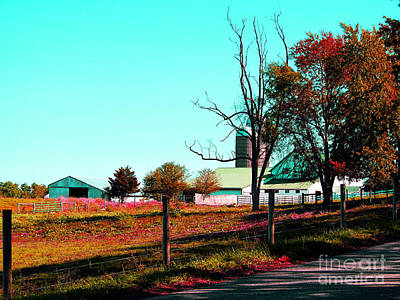 The Farmland In Autumn Print by Tina M Wenger
