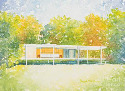 Painting - The Farnsworth House by Sandra Neumann Wilderman