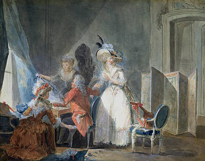Chair Drawing - The Fashion Seller  by Philibert Louis Debucourt