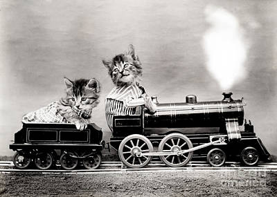 Photograph - The Fast Express 1914 by Science Source