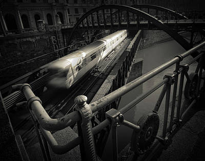 London Tube Photograph - The Fast Line by Dragan Jovancevic