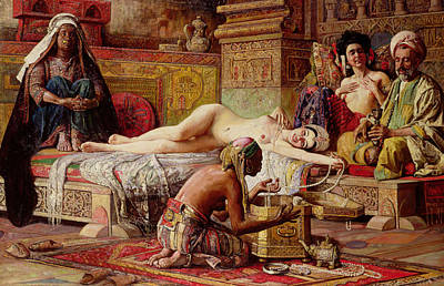 The Favorite Of The Harem Print by Gyula Tornai