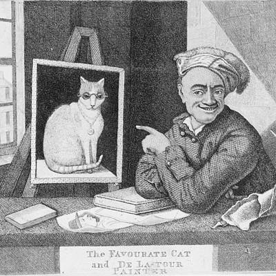 Fun Cats Drawing - The Favourite Cat by Philip Ralley