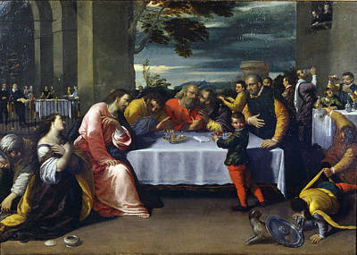 Ointment Painting - The Feast At The House Of Simon by Ippolito Scarcella