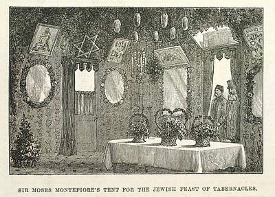 Jew Photograph - The Feast Of Tabernacles by British Library