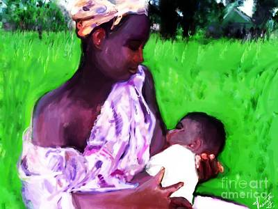 Art Print featuring the painting The Feeding 2 by Vannetta Ferguson