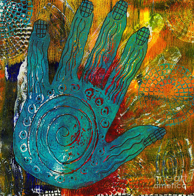 Painting - The Feel Good Hand by Angela L Walker