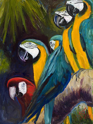 Macaw Painting - The Feisty One by Billie Colson
