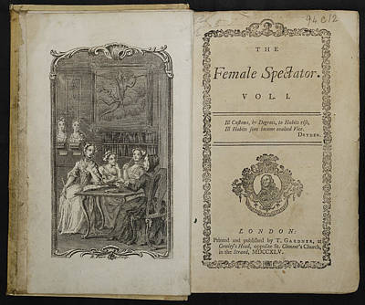 The Female Spectator Art Print by British Library