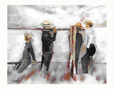 The Fence Builders Art Print