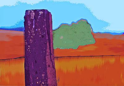 The Fencepost Art Print by Charlette Miller