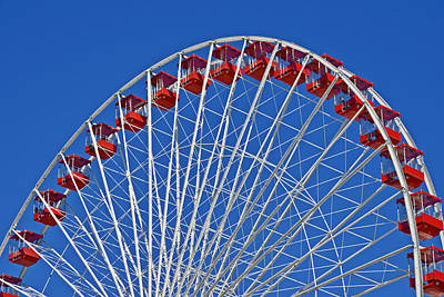 Whimsy Photograph - The Ferris Wheel Chicago by Christine Till