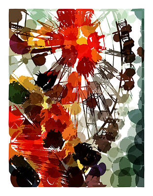 The Ferris Wheel Art Print by Mark Compton
