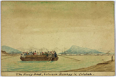 Bombay Photograph - The Ferry Between Bombay And Colabah by British Library