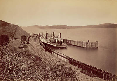 Pablo Drawing - The Ferryboat Solano Carleton Watkins by Litz Collection