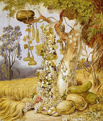 Grapevines Painting - The Fertility Of The Earth by Johann Heinrich Wilhelm Tischbein