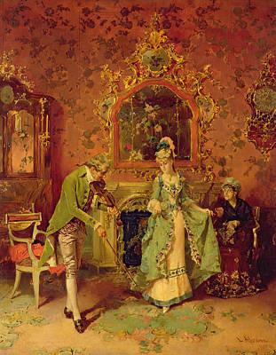 The Fiddler Art Print by L Alvarez
