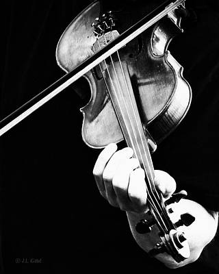 Fiddle Wall Art - Photograph - The Fiddler by Medicine Tree Studios