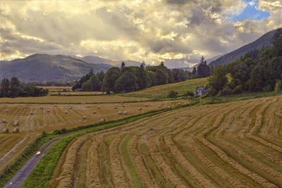 Photograph - The Fields Of Scotland - Landscape - Sunset by Jason Politte