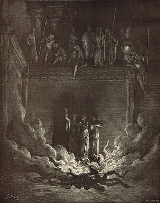 Messianic Drawing - The Fiery Furnace by Antique Engravings