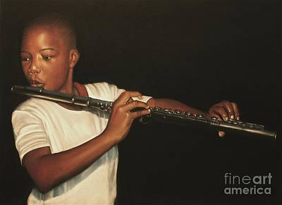 Artist Curtis James Pastel - The Fifer I by Curtis James