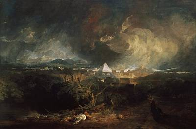London Plague Painting - The Fifth Plague Of Egypt by JMW Turner