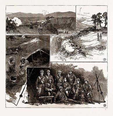 The Fighting With Dacoits In Burma Art Print