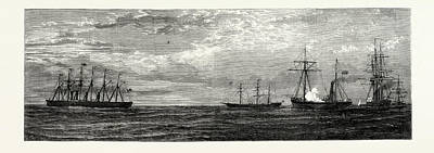 Final Drawing - The Final Departure Of The Great Eastern by English School
