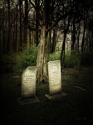 The Final Resting Place Of Ambros And Brazilla Ivins Art Print