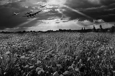 Photograph - The Final Sortie Black And White Version by Gary Eason