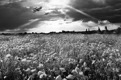 Photograph - The Final Sortie Wwi Black And White Version by Gary Eason