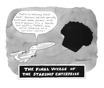 Science Fiction Drawing - The Final Voyage Of The Starship Enterprise by Danny Shanahan