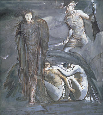 Gorgon Drawing - The Finding Of Medusa, C.1876 by Sir Edward Coley Burne-Jones