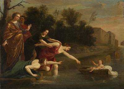 Art Print featuring the painting The Finding Of Moses   by Jacques Stella