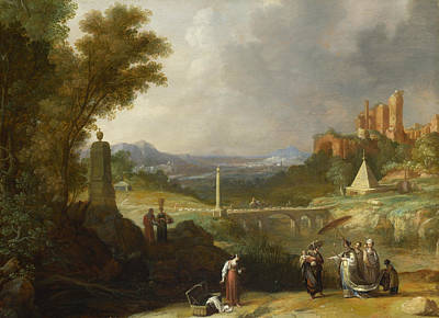 The Finding Of The Infant Moses By Pharaoh's Daughter Art Print by Bartholomeus Breenbergh