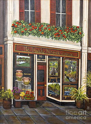 Freehold Painting - The Finicky Framer By Alison Tave by Sheldon Kralstein